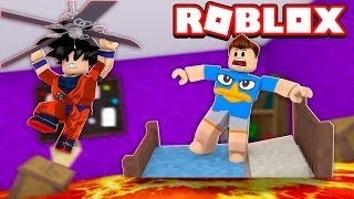 THE NEW FLOOR IS LAVA IN ROBLOX! (The Floor Is Lava Escape)