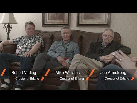 An Evening at Erlang Factory: Joe Armstrong, Mike Williams, Robert Virding