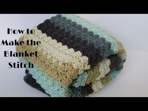 How to Make the Blanket Stitch (Crochet 101 Series)