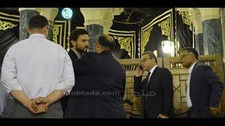 فيديو| حسام غالى فى عزاء طارق سليم