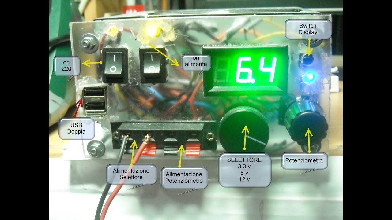 Schema Elettrico Alimentatore : Alimentatore switching step up circuitielettronici