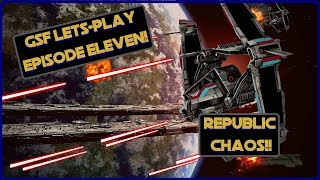 GSF Let's Play #11! SWTOR Galactic Starfighter Space PVP! Republic Chaos!