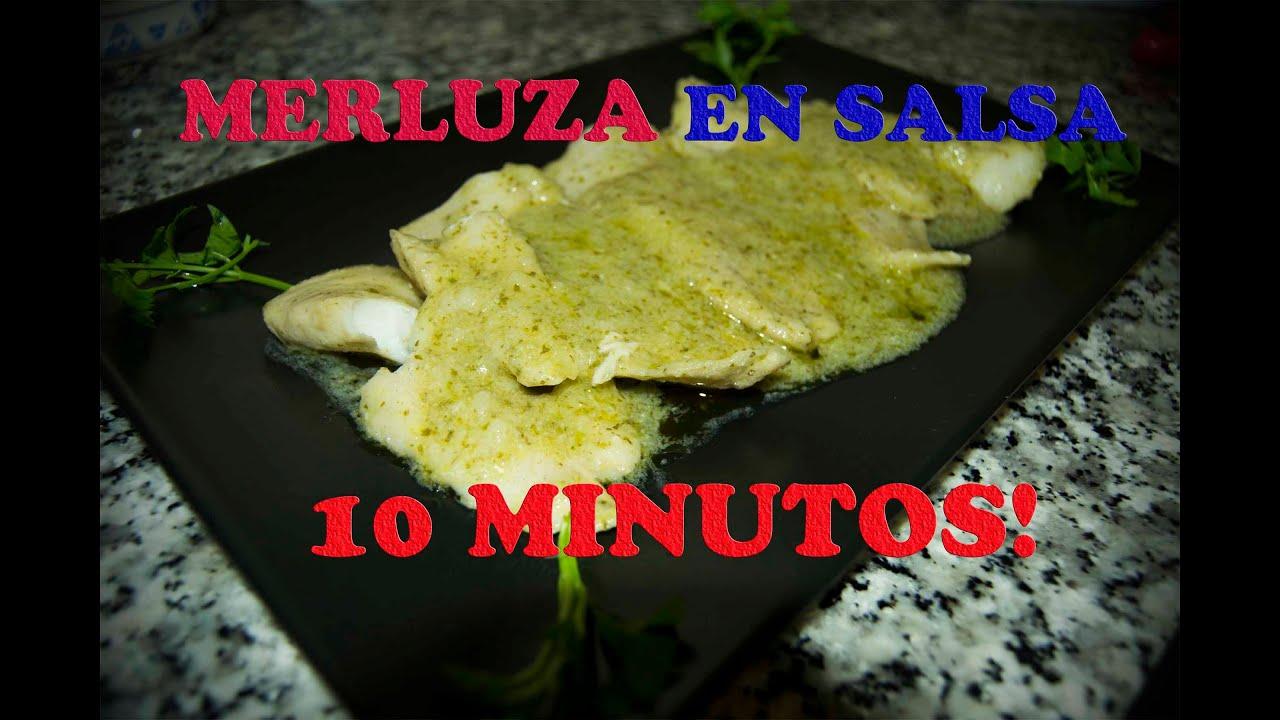 Como cocinar merluza en salsa verde en menos de 15 minutos youtube - Cocinar merluza en salsa ...