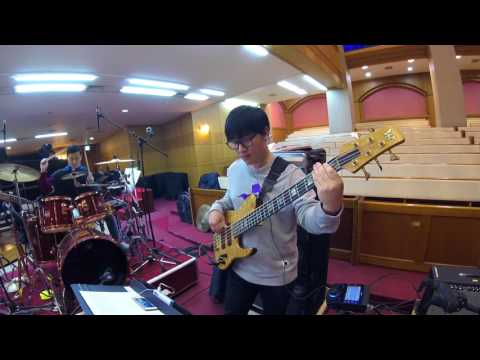 [찬찬 베이스] Byron Cage  - The presence of the Lord is Here (bass) korean ver.