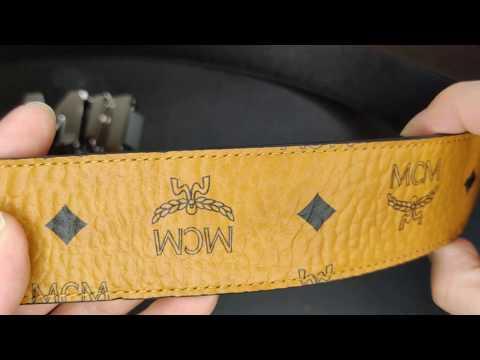 MCM Cognac M Reversible Mens Belt