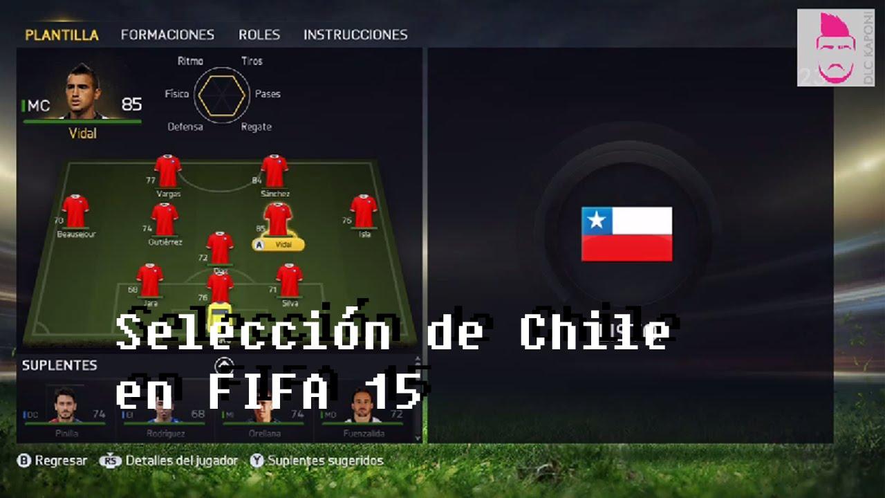 FIFA 15 - Selección Chilena - YouTube