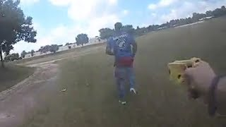 Tulsa Police Tazer Armed Suspect During Foot Chase