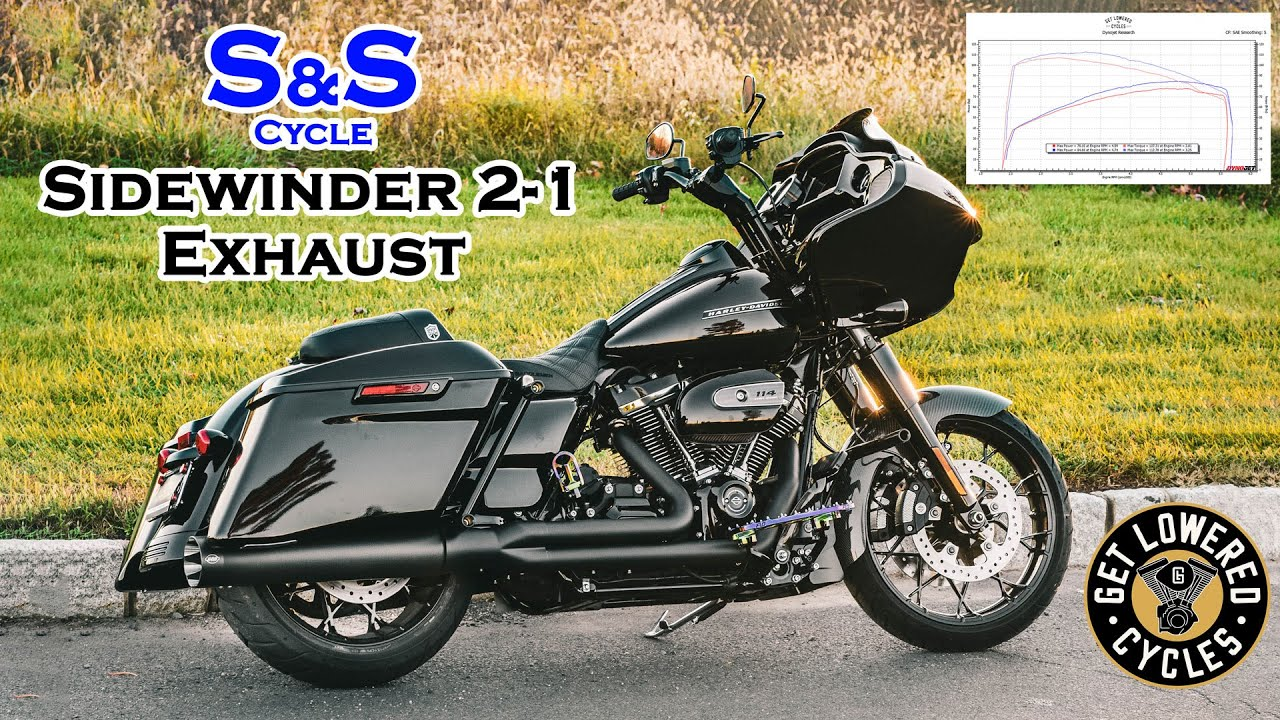 s s sidewinder 2 1 exhaust system sound clip dyno numbers 2020 harley road glide