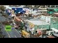 Destrucción en las calles de San Juan (Puerto Rico) tras el paso del huracán María