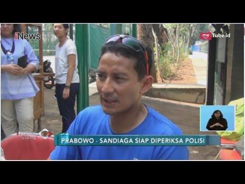 Prabowo-Sandi Siap Jika Diperiksa Polisi Soal Kasus Hoax Ratna Sarumpaet - iNews Siang 06/10