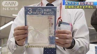 """""""アベノマスク""""また不良品 妊婦用に続き全戸用も(20/04/22)"""