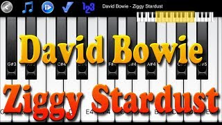 David Bowie - Ziggy Stardust - How to Play Piano Melody