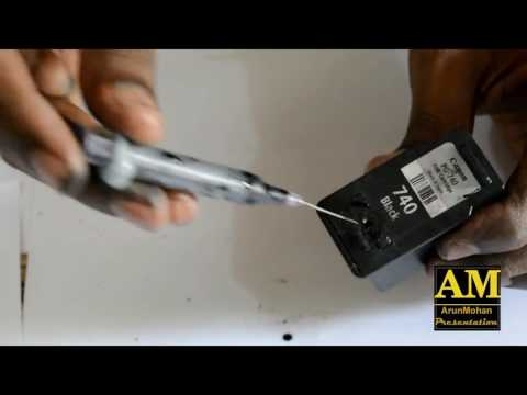 How to refill Canon PG-740 PG-240 PG-540 PG-640 BC-340 ...