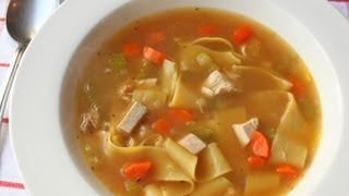 Roasted Chicken Broth Recipe - Part 1 Of How To Make Chicken Noodle Soup