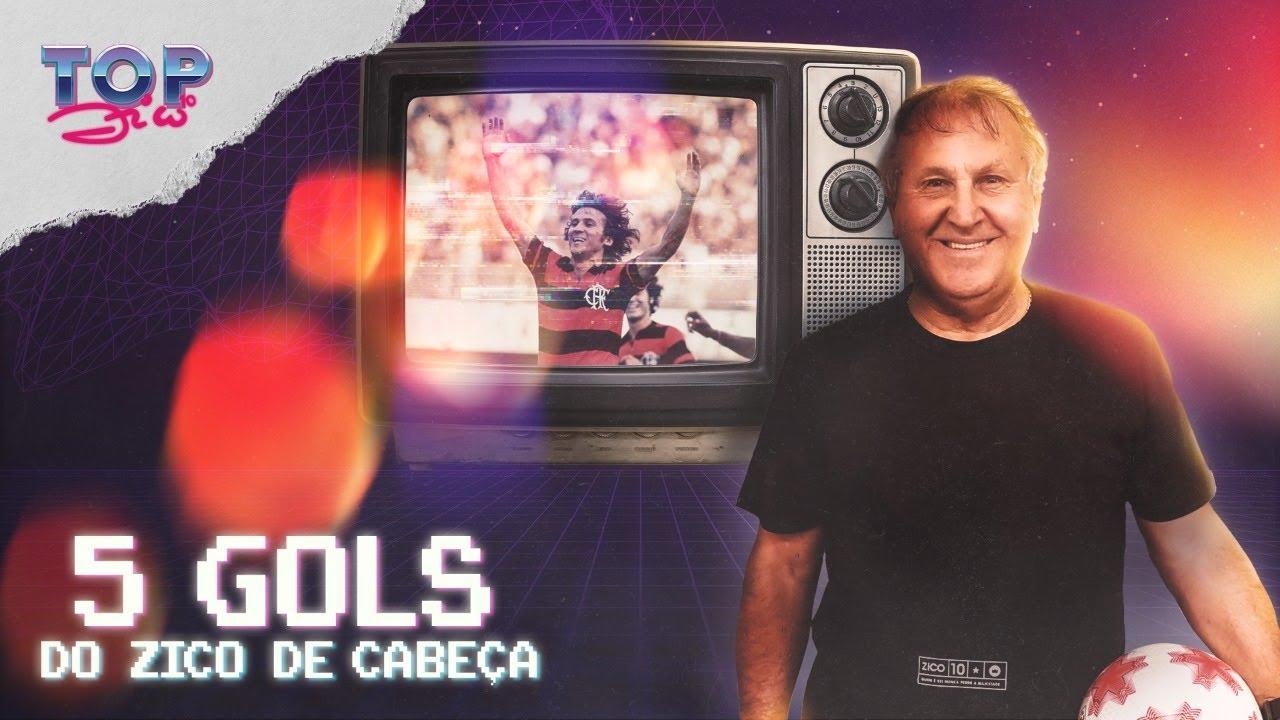 Os melhores gols de cabeça do ZICO pelo FLAMENGO! Galinho escolheu os gols mais bonitos! (TOP 5)