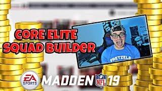 CORE ELITE SQUAD BUILDER! Madden 19 Ultimate Team