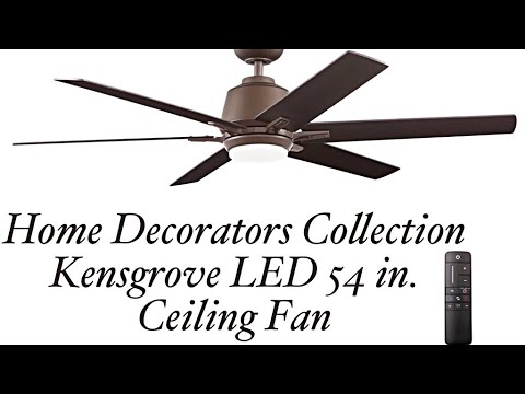 Home Decorators Collection Kensgrove LED 54 in  Ceiling Fan Home Depot