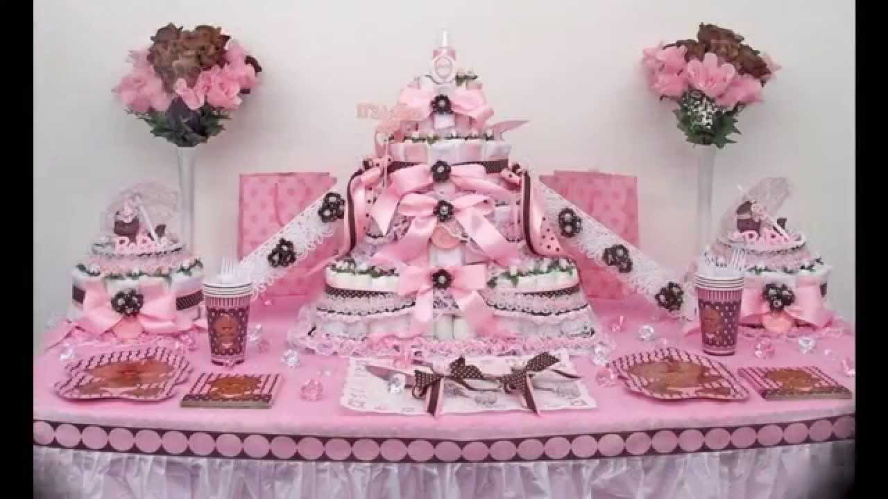 Pink And Brown Baby Shower Themes Youtube