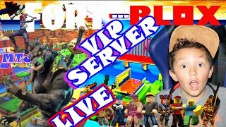 🍩 FORTNITE and Roblox LIVE Stream KID GAMER MinetheJ VIP Server Let's Play with Fans No Profanity