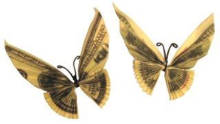 Бабочка из денег juravliki.ru