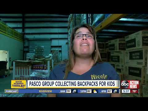 Mychal Maguire - Pasco County Volunteer Group Collecting Backpacks For Children In Need