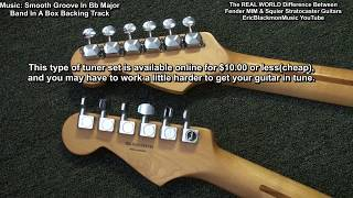 The Real Difference Between MIM Fender & MIM Squier Fat Stratocaster Guitar In My Experience