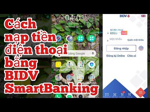 Cách nạp tiền điện thoại bằng BIDV Smart Banking