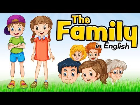 The family members in English for kids