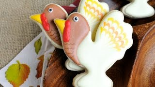 Folk Turkey Cookies For Thanksgiving, Haniela's