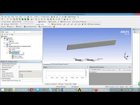ANSYS DC electric analysis  Calculate Resistance,Power, and export