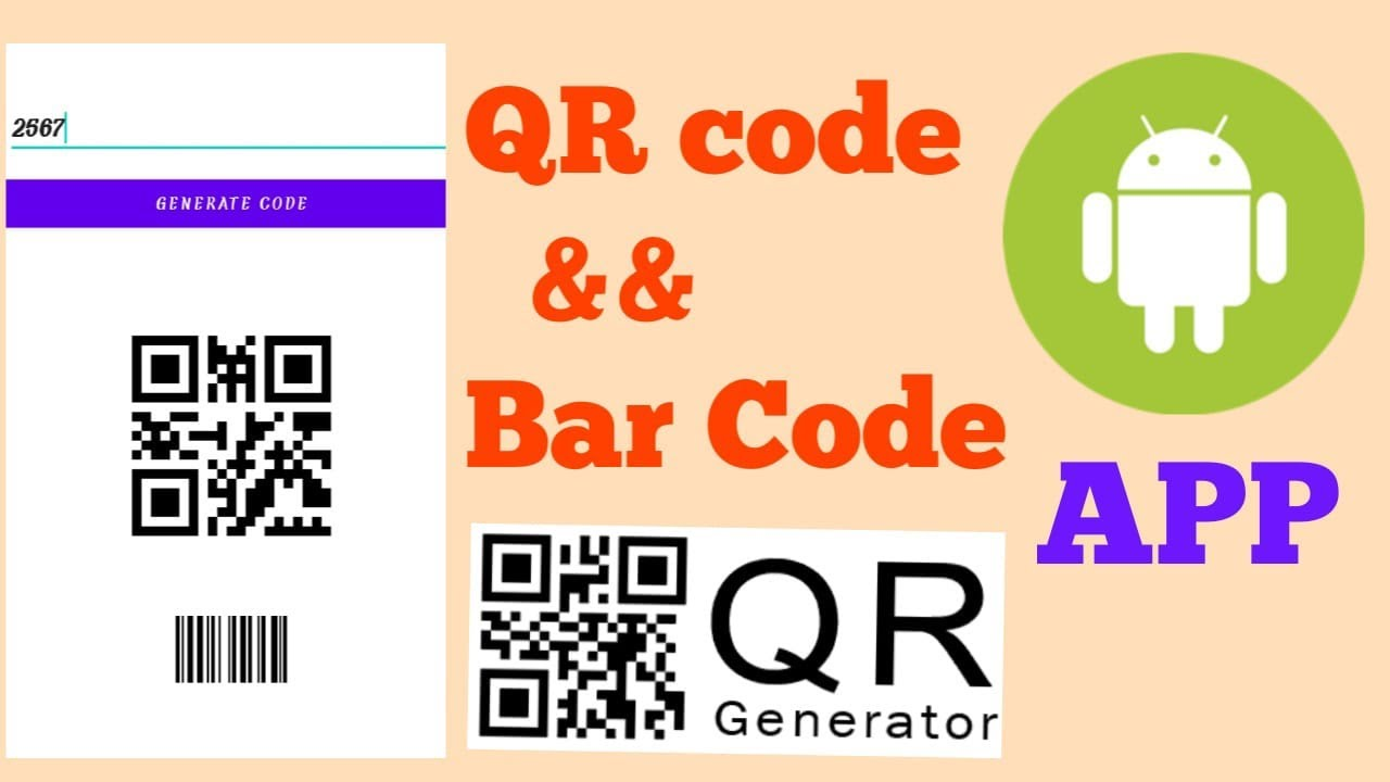 Generating Qr Code and Bar Code App in Android Studio    Covert text to Qr and Bar Code