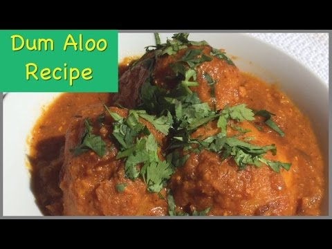 Dum Aloo Recipe - Shahi Dum Aloo - दम आलू - Recipe In Hindi With English Subtitles(Restaurant Style)
