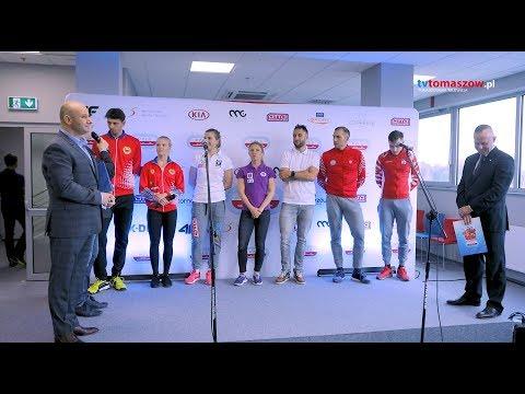 32. MISTRZOSTWA POLSKI NA DYSTANSACH - konferencja prasowa - Arena Lodowa w Tomaszowie Maz.