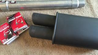 DC Sport Stealth Dual Tip Muffler 2.5 inch