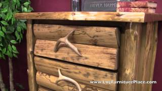 5 Drawer Log Chest From The Cedar Lake Logger Collection