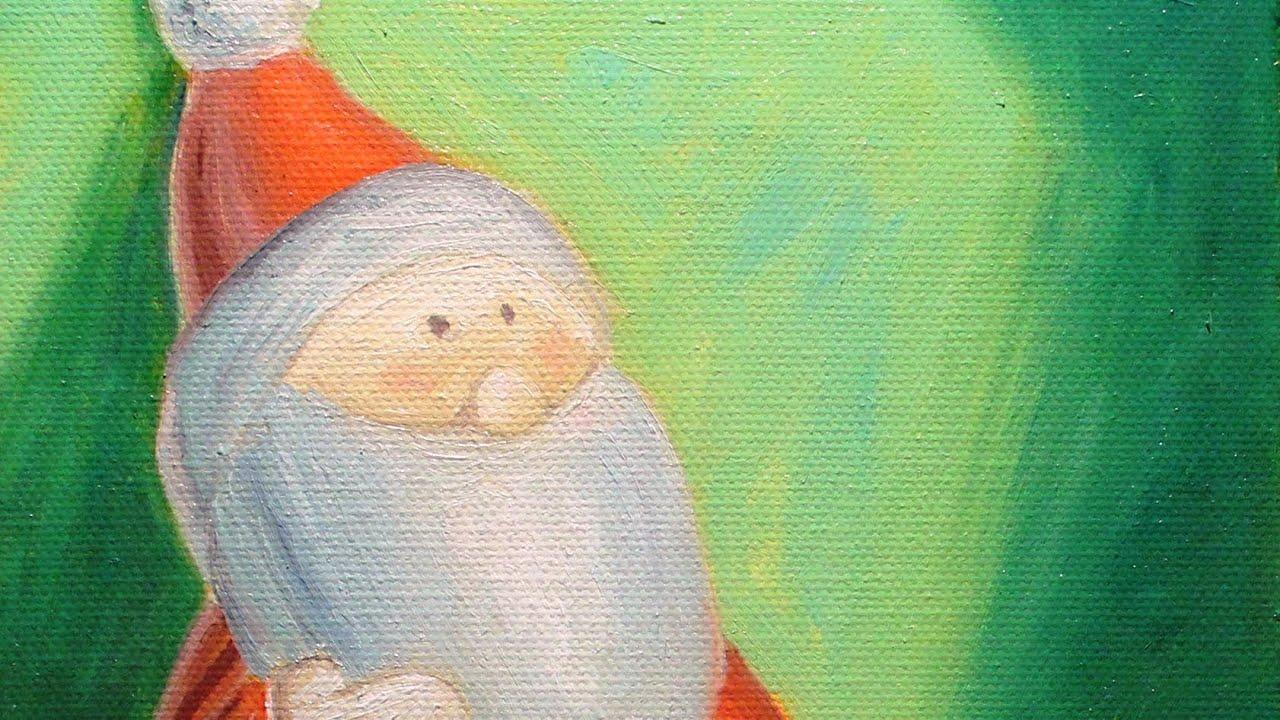 Disegnare E Dipingere Un Bel Babbo Natale Facile Video