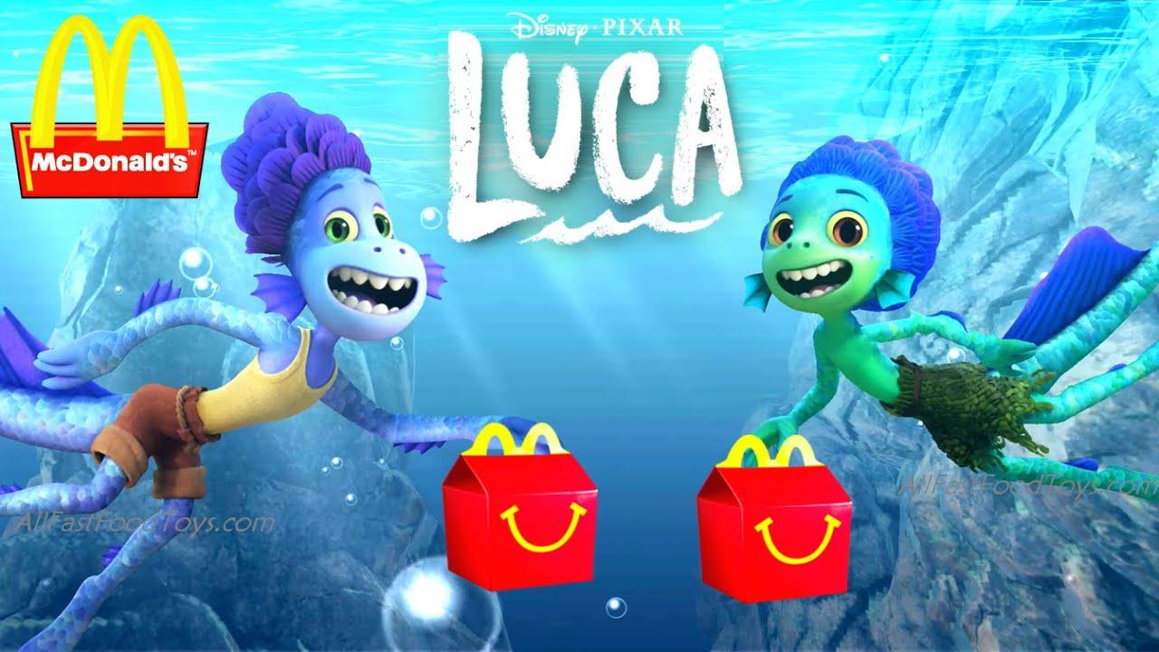 DISNEY PIXAR LUCA VIDEO GAME McDONALD'S HAPPY MEAL TOYS APP REVIEW BIKE RIDE ALBERTO LUCA MOVIE 2021