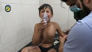 Victims struggle to breathe after Aleppo chemical attack