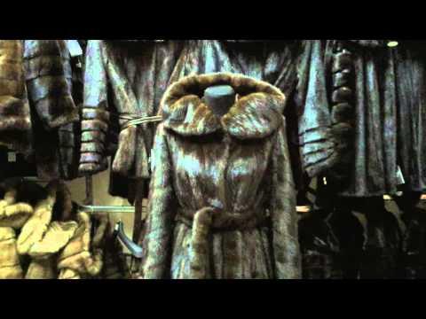 модный полушубок из натуральной норки с капюшоном махаон