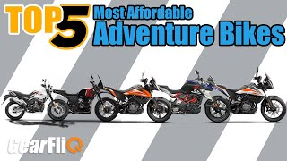Top 5 - Most Affordable Adventure Bikes | Hindi | GearFliQ