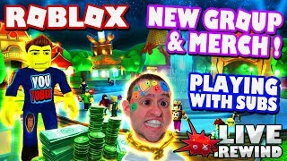 NEW Roblox Merch & Group ! Playing with Subs & You choose the game ! ► Roblox PC 🔴 Live Rewind