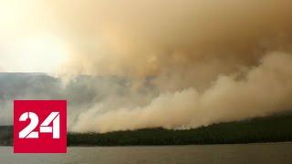 Пожарные борются с огнем в Сибири и на Дальнем Востоке при 40 градусах
