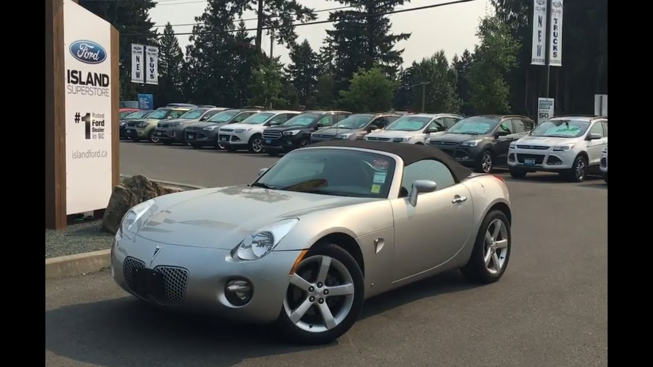 2007 Pontiac Solstice Convertible W Release Trunk Review Island Ford