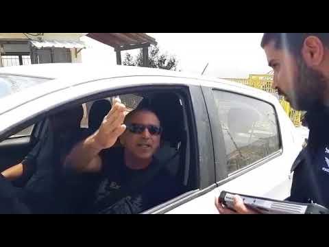 שוטר מאיים להחרים פלאפון מצבי סוכות המתעד אכיפה מוגברת של המשטרה