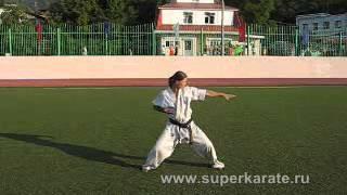 ката-  tekki sono ichi  (карате киокушин)(Видео урок как сделать, выучить ката., 2015-01-15T05:41:46.000Z)