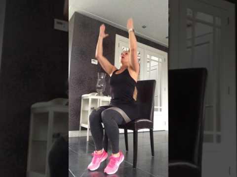 """lisa's studio  """"stoel""""oefeningen voor iedereen toegankelijk"""