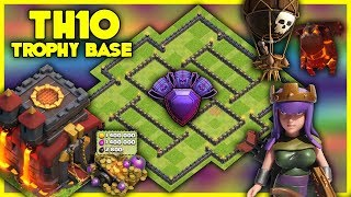 UNBEATABLE Town Hall 10 [TH10] TROPHY BASE! W/ Replays | Anti Air | BEST TH10 BASE - Clash Of Clans