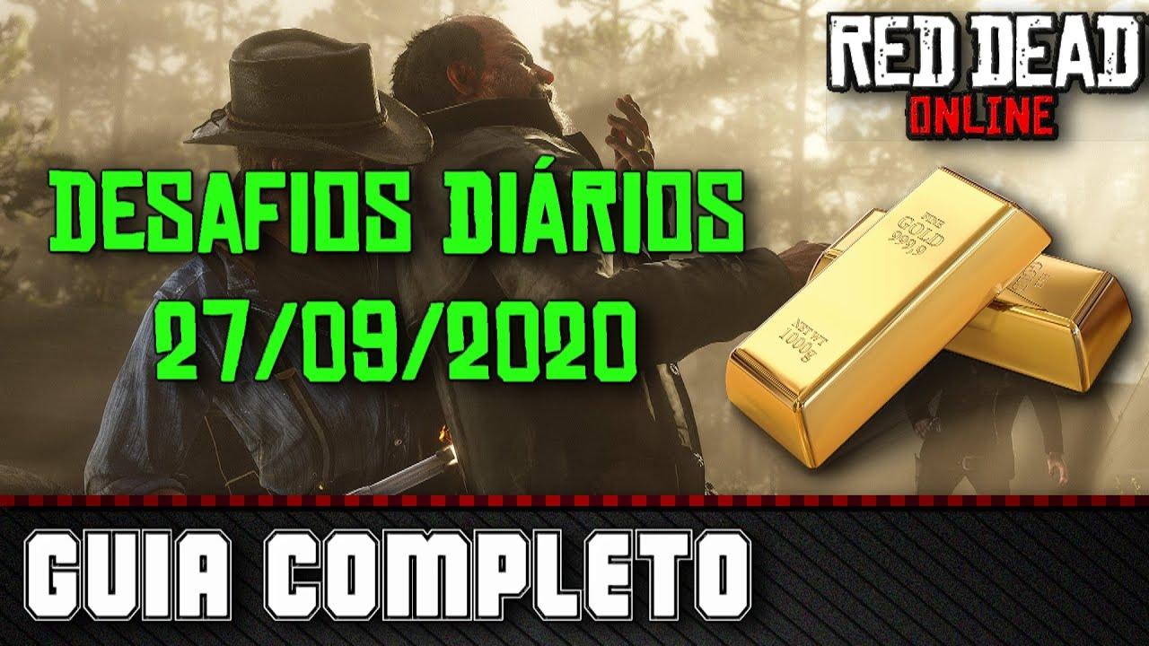 Desafios Diários - Red Dead Online 27/09/2020