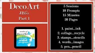 Journaling B5s Featuring Decoart -  Part 1