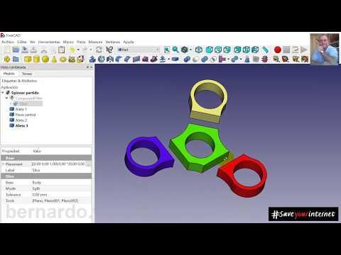 Curso / Tutorial de FreeCAD - Capitulo 3/19 - Dividir objeto en trozos sin medidas exactas. 2ª Parte thumbnail